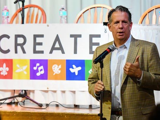 Lafayette Mayor-President Joel Robideaux delivers opening