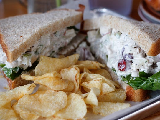The chicken salad sandwich at Scenic Route Bakery in