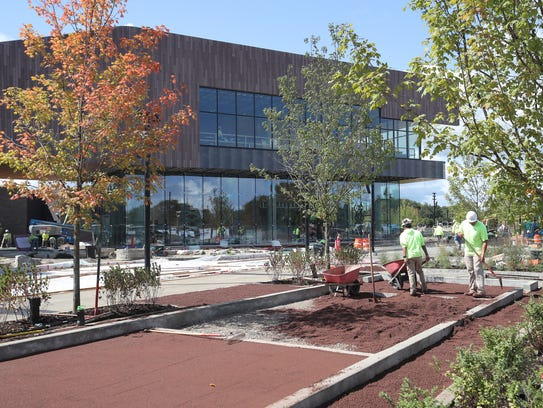 Site work and landscaping continues near the sled hill
