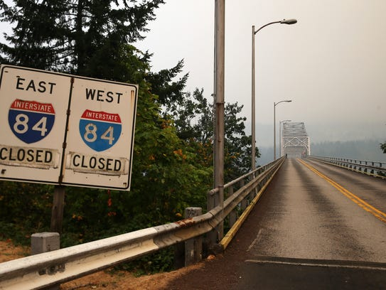 Interstate 84 and the Bridge of the Gods closed Sept.