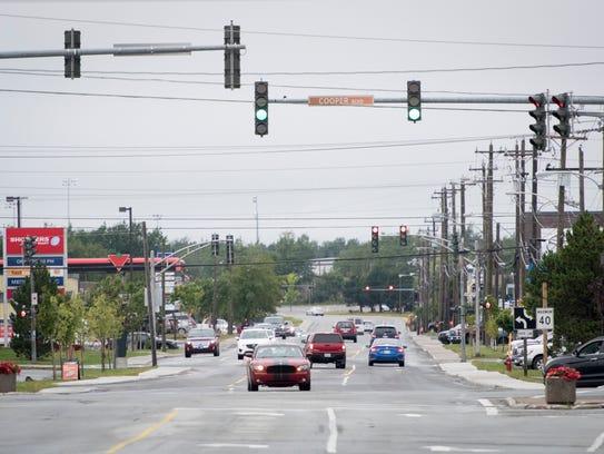 Gander residents start their day along Airport Boulevard,