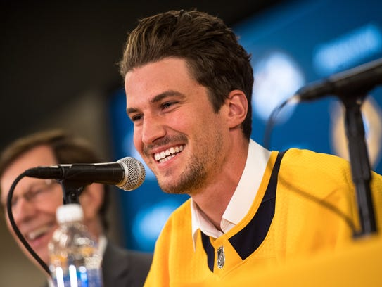 Roman Josi speaks after being officially named the