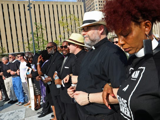CORRECTS TO SERVICE-Clergy pray together during in