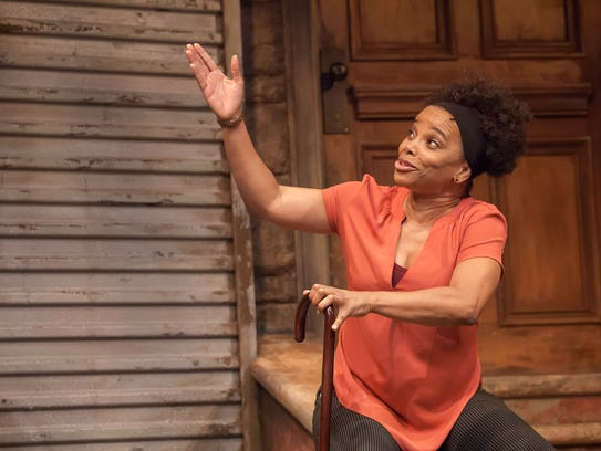 Debra Walton plays all nine characters in the Playhouse