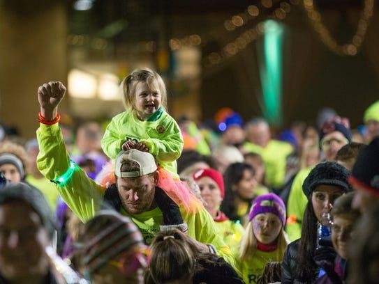The Jeremy Monnett Rock n' Glow Fun Walk/Run is shown