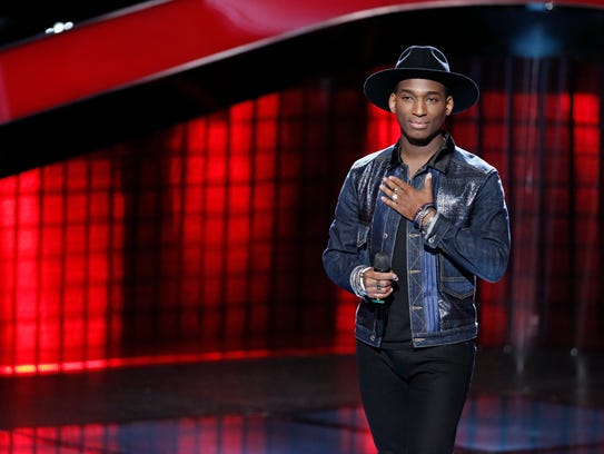 """Jon Mero is seen during auditions for """"The Voice."""""""