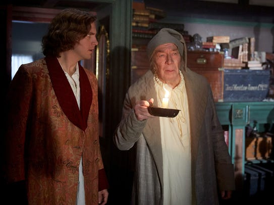In 'The Man Who Invented Christmas' Dan Stevens (left,