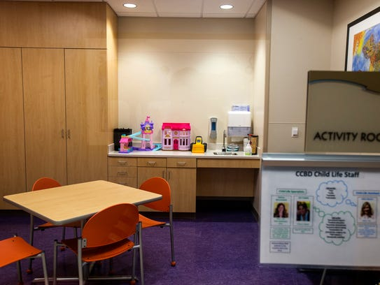 An activity room is pictured at the new Center for