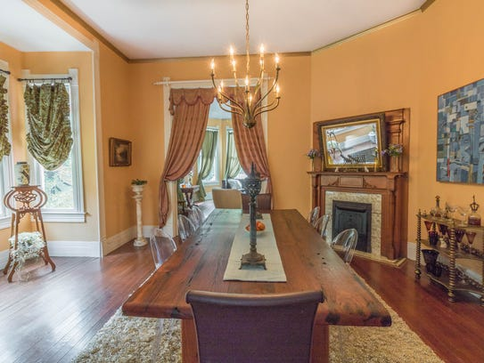 The large dining room is the perfect formal gathering