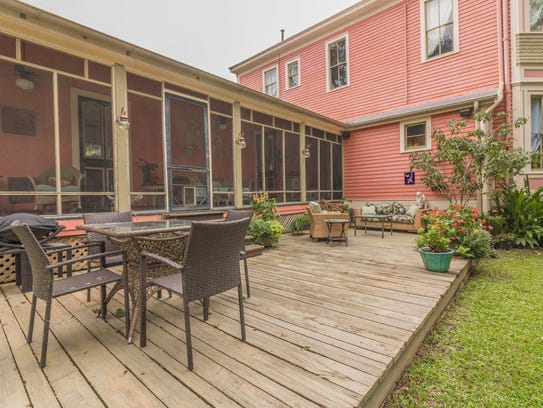 The property includes great outdoor entertainment spaces.