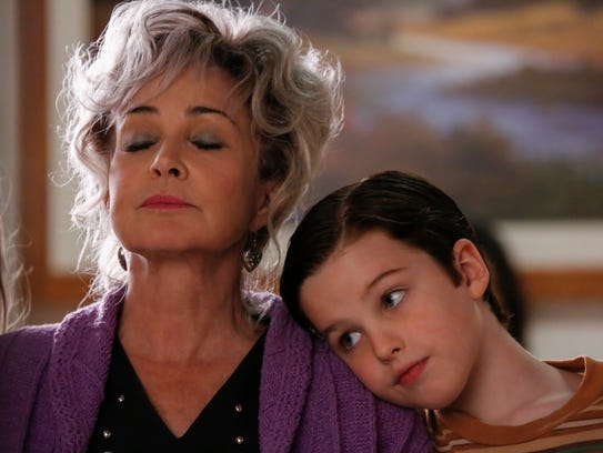 Meemaw (Annie Potts), left, is a big supporter of grandson