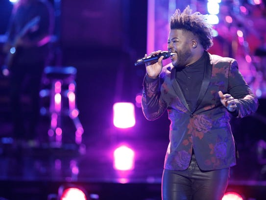 """Chris Weaver sings in the playoff rounds of """"The Voice."""""""