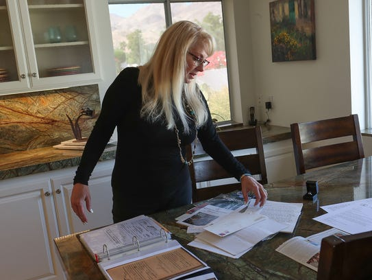 Sheila Bradford Kiner of Palm Desert is a direct descendant