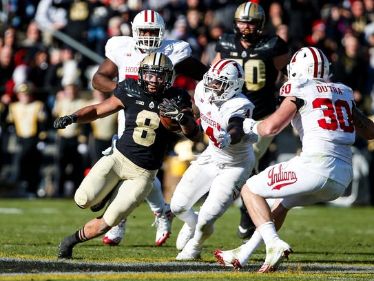 Purdue's Markell Jones runs the ball during the 93rd