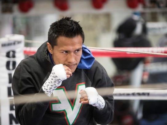 """Francisco """"El Bandido"""" Vargas (23-1-2, 17 KOs) trains"""