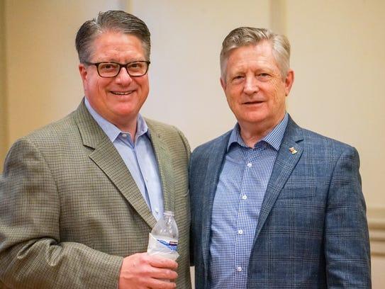 Joel Werner and Pearson Cross celebrate Kathleen Blanco's