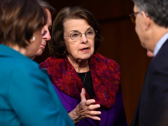 Democratic Sen. Dianne Feinstein of California is among