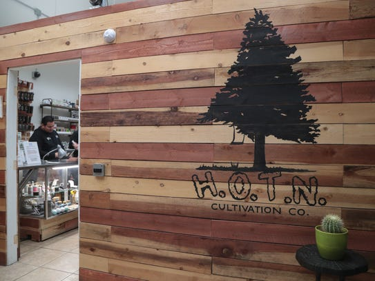 HOTN Cultivation Company in Cathedral City is one of many local marijuana dispensaries now open for recreational sales.