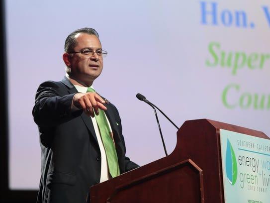Supervisor V. Manuel Perez speaks at the Southern California