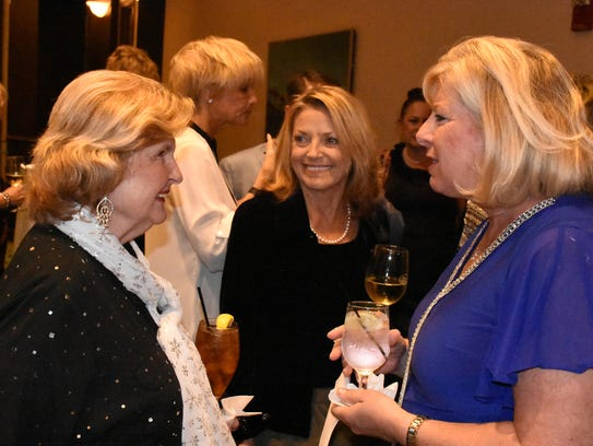 File: County Commissioner Donna Fiala, left, with Supervisor of Elections Jennifer Edwards and chamber executive director Dianna Dohm.