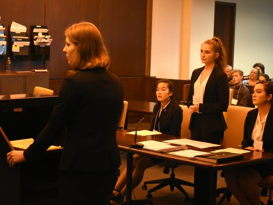 In the final round, student attorney Taylor Brewer