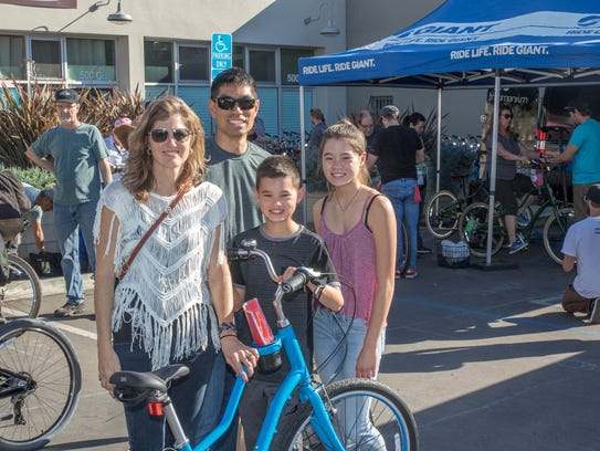 Giant Bicycles and BikeVentura gave away bikes to people
