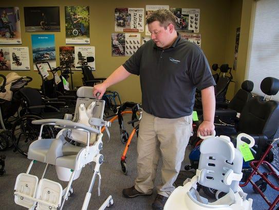 Jason Baedke, a rehab specialist at Total Respiratory