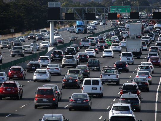 File photo taken in July 2015 shows Interstate 80 traffic in San Francisco.