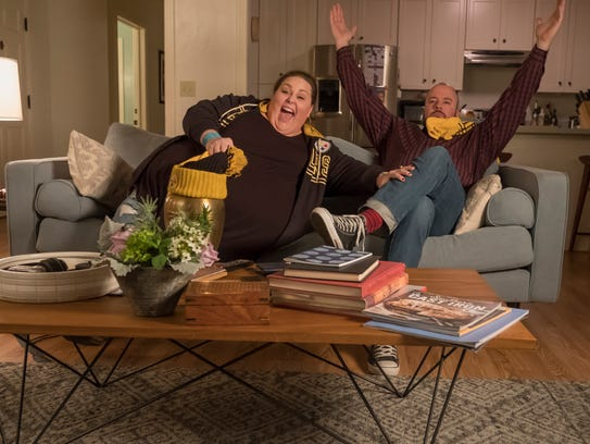 """Chrissy Metz and Chris Sullivan in an episode of """"This is Us,"""" which aired after the Super Bowl earlier this month."""