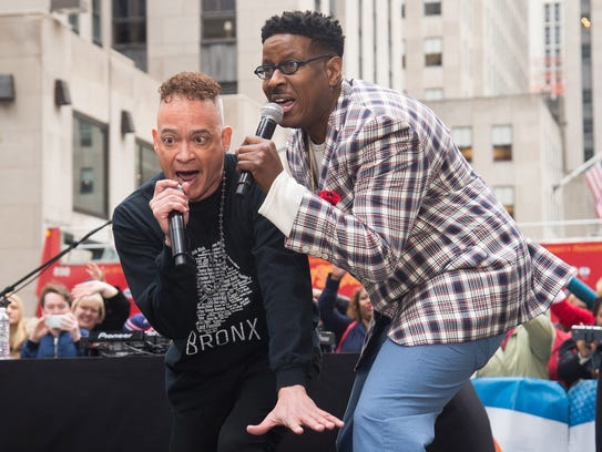"Kid 'n Play members Christopher ""Kid"" Reid, left, and"