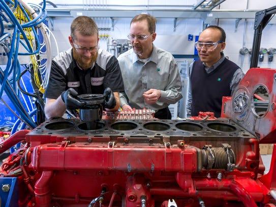 From left, Steven Sommers, senior technician, Mike