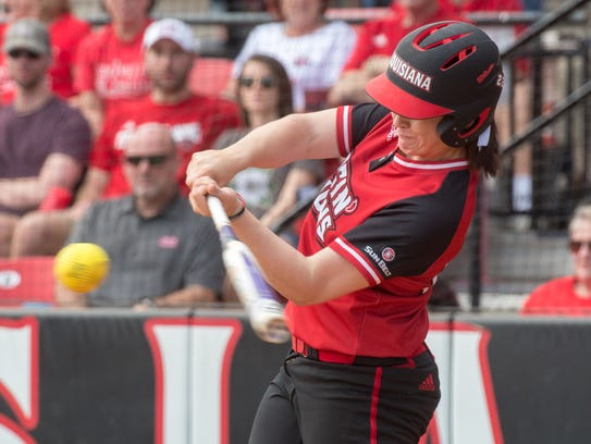 UL's Alissa Dalton is already leading the Cajuns in batting average at .455 with a homer and 10 RBIs thus far.