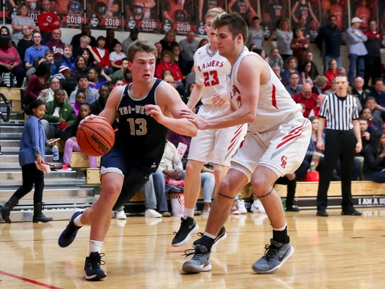 Tyler Watson (13) leads Tri-West into a brutal Class
