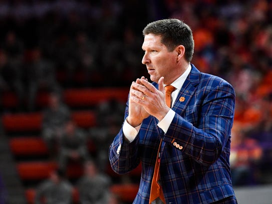 Clemson coach Brad Brownell and the Tigers take on