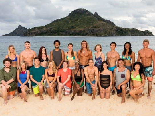 "The 20 castaways competing on ""Survivor"" this season,"