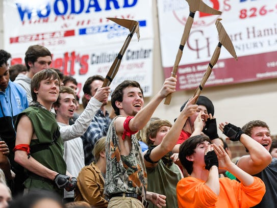 The Union County student section as the Union County