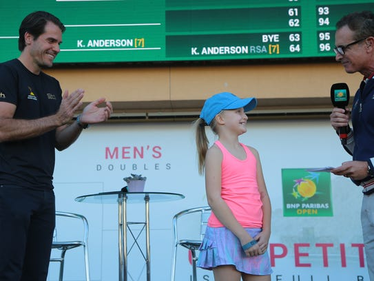 Tournament director Tommy Haas participates in trivia