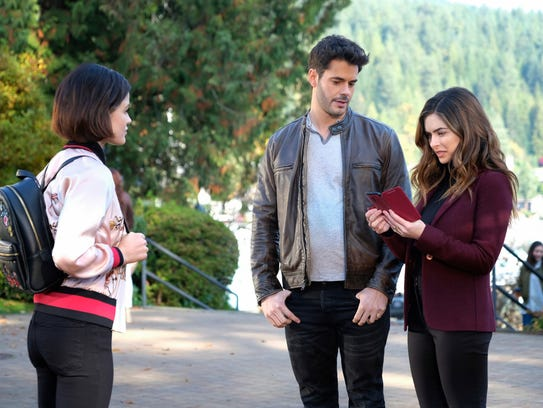 Lucy Hale as Stella, Jayson Blair as Aiden and Brooke