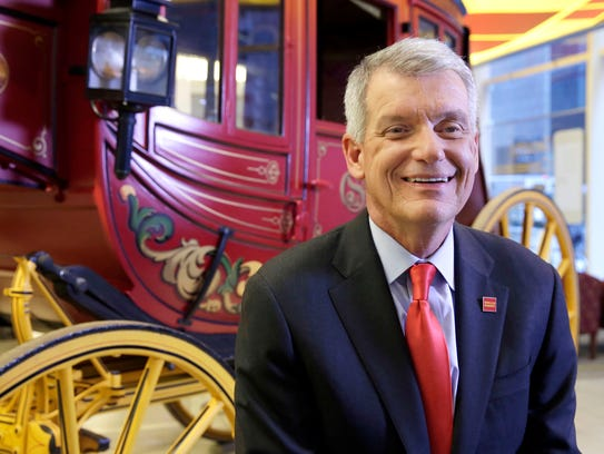 Wells Fargo CEO & President Timothy Sloan poses for