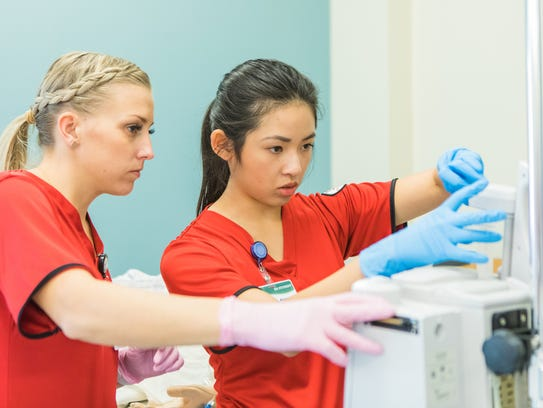 Students in the nursing program at Dixie State University.