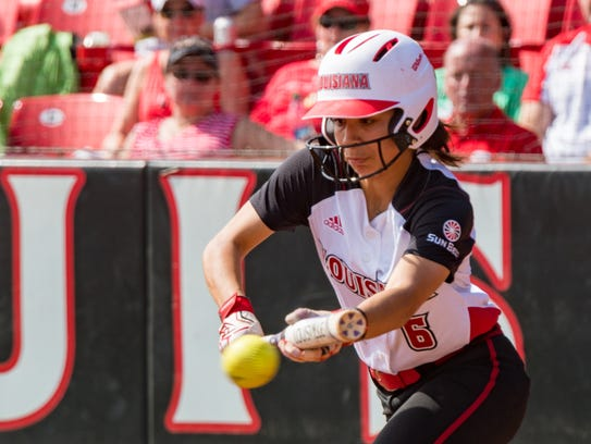 UL's Brittany Rodriguez is batting .316 with nine stolen bases in her first and only season with the Ragin' Cajuns as a transfer from Lamar.