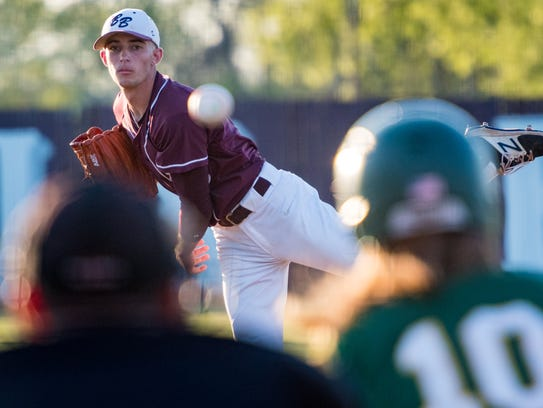 Breaux Bridge pitcher Tannor Dalfrey had a complete-game victory over Cecilia on Tuesday.