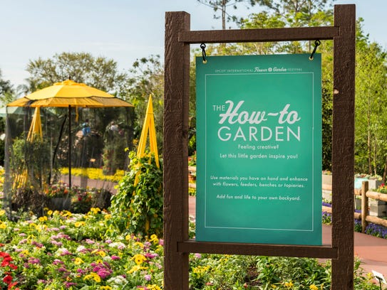 The new How-To Garden in Future World at the 25th Epcot