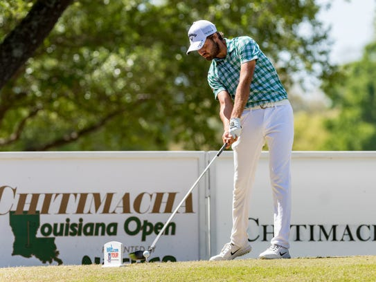 Curtis Luck fires a 65 Friday to finish two shots off the lead at the Chitimacha Louisiana Open at Le Triomphe.