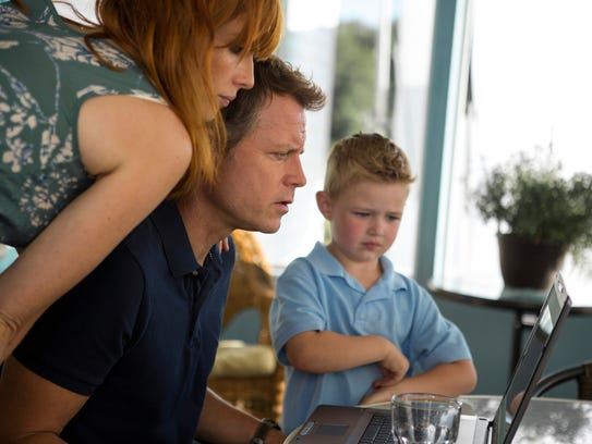Kelly Reilly, Greg Kinnear and Connor Corum in 'Heaven