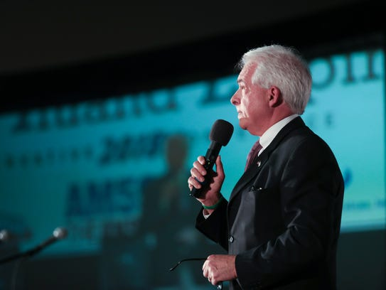 California gubernatorial candidate John Cox speaks