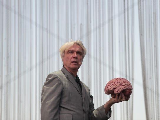 April 14, 2018; Indio, CA, USA; David Byrne performs
