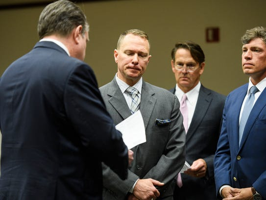 Suspended Greenville County Sheriff Will Lewis pleads