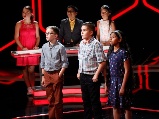 """Team Wicked Smaht members, from left, Knoxville's Nolan Cook, Jack and Eashani on NBC's """"Genius Junior."""""""