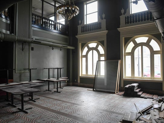 Plans are for the former lobby of the Historic Soaper